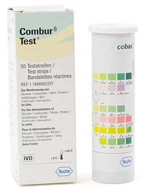 Combur 6 test strips roche for Table 6 simulated urine protein test