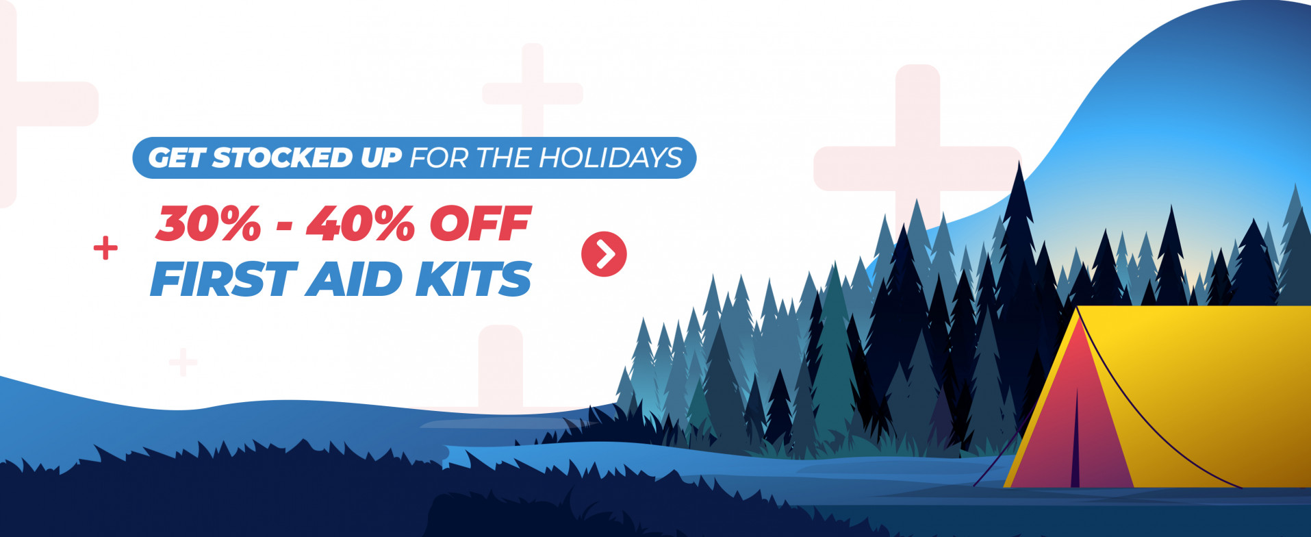 30-40% off First aid Kits Banner Campaign