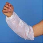 05189 - Armcuffs White Polythene (100 to a pack = 50pr)
