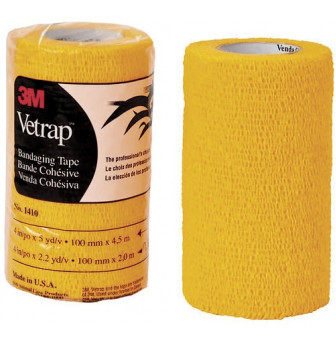 1410GD 3M Vetrap Bandage Tape Gold 100mm x 4.5m