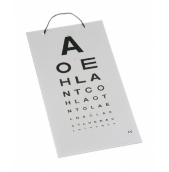 26380016 - Eye Chart 3mtr Alpha Card