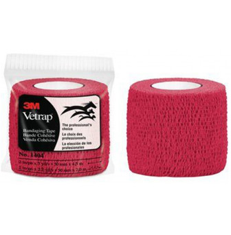 3M Vetrap Bandage Tape Red 50mm x 4.5m