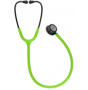 5875 Stethoscope Littmann Classic III Lime Green with Blue Stem and Smoke Finish 2