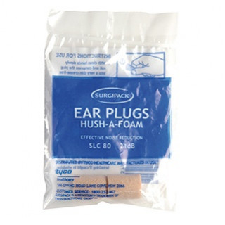 6247 Earplugs Hush A Foam Surgipak