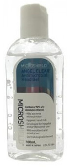 70001142 Microshield Angel Clear Antimicrobial Hand Gel 100ml