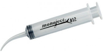 8881412012 - Monoject Syringe CURVED Tip Syringe 12ml