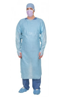 Apron PE with Full Sleeves and Thumb Hook Universal Blue