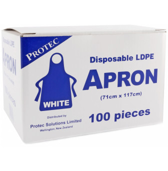 Aprons Plastic Disposable Individually wrapped