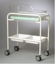 AX582 Single Bassinet trolley fixed height capsule & trays