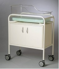 AX612 Single Bassinet trolley Capsule & Cabinet