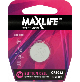 Battery Maxlife Lithium 3V CR2032