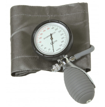 BSOHAS Basic Aneroid Sphygmanometer One-Hand Latex Free - Silver