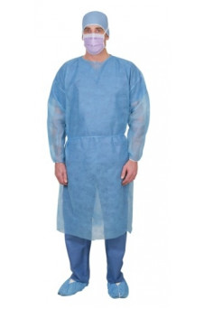 CRI4000B Medline Isolation Gown Blue Single-Use-Spunbond-Cover-Gown