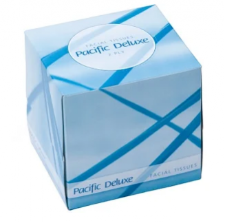 DF90 Deluxe 2 ply Facial tissue square box.PNG