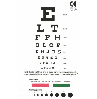 ECSP_Eye Chart Snellen Pocket Eye Chart