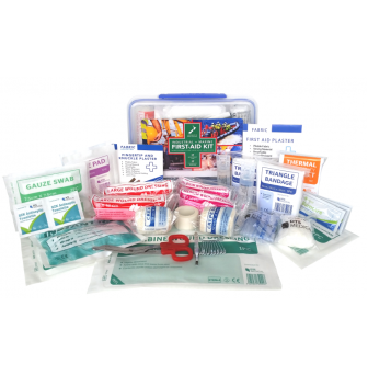 FAKI&MPB First Aid Kit - Work Place Industrial & Marine Click Tight Container