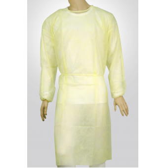 Isolation gown-30gsm yellow