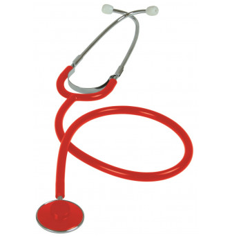LSN005R_Liberty Stethoscope Single Head Zip Case Red