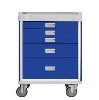 MX31ANE-CT Milano Anesthesia Cart Base Unit Blue - Drawers 3,1,1