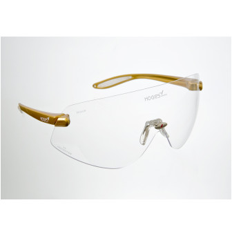 NMG006 Glasses Hogies Eyeguard Clear Lens Gold arms