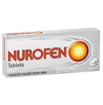 Nurofen Tablets Pain Relief 200mg Ibuprofen 24