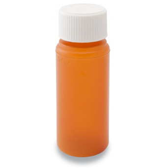 Pill Container Amber with Childproof Cap