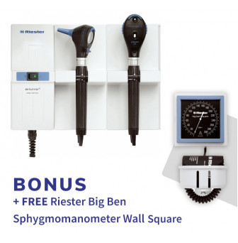 Riester Wall ri-former LED Diagnostic set L2 LED Otoscope and Ophthalmoscope