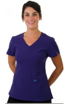 SCR454NBXL EXCEL ACCUFLEX 4-WAY STRETCH SCRUBS TOP Navy Blue.PNG
