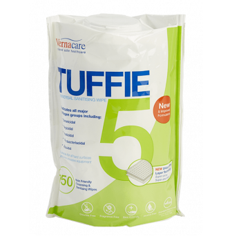Vernacare Tuffie 5 Hospital Grade Disinfectant Wipe