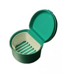 WARW-DNT Denture Cup With Strainer and Lid