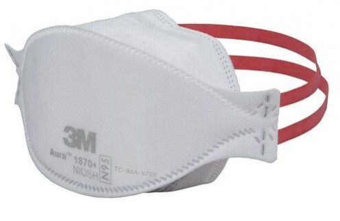 N95 P2 3m Fluid Respirator Resistance 3-panel Mask Flat With