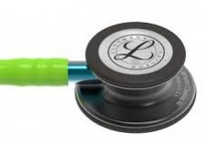 3M Stethoscope Littmann Classic III Lime Green with Blue Stem and Smoke Finish 3