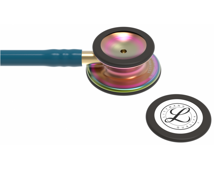 5807 3M Stethoscope Littmann Classic III Caribbean Blue with Rainbow Finish