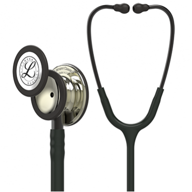 5861 3M Stethoscope Littmann Classic III Black with Champagne Finish