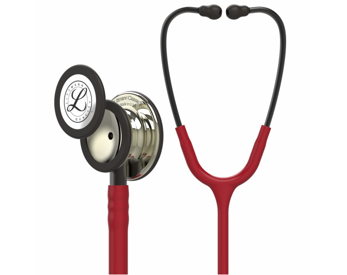 5864-01 3M Stethoscope Littmann Classic III Burgundy with Champagne Finish