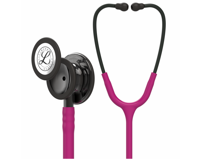 5871-013M Stethoscope Littmann Classic III Raspberry with Smoke Finish