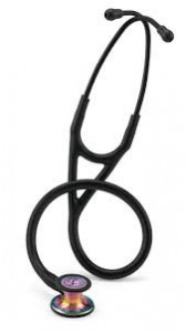 6165 3M Stethoscope Littmann Cardiology IV Black with Rainbow Finish