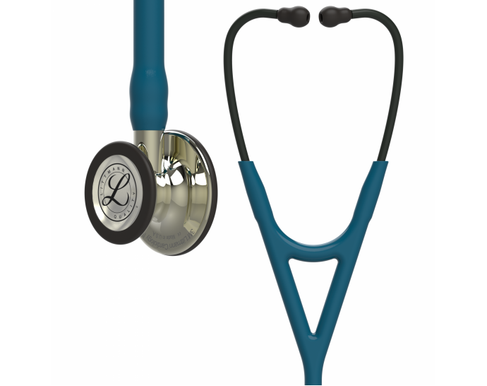 6190 3M Stethoscope Littmann Cardiology IV Caribbean Blue with Champagne Finish
