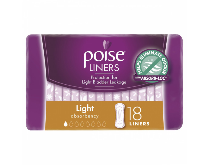 Poise Liners, Light, Extra Light Absorbency, 18 Liners-1