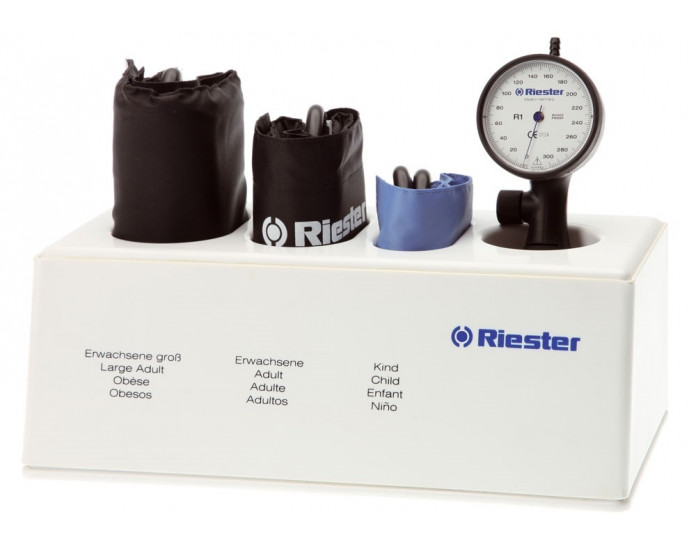 Riester Sphygmomanometer R1 Shock-Proof White LF 1-tube with 3 cuffs