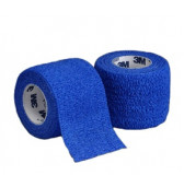 1583b - 3M Coban Self adherent wrap BLUE  75mm - Each