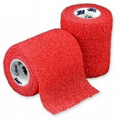 3M Coban Self Adherent Wrap Red 100mm