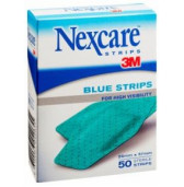 ah010577650 - 3M Plaster Nexcare BLUE Strips 26mm x 57mm