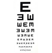 CC4115013 Eye Chart 6 Meter Illiterate E Chart