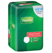 Depend Fitted Briefs Medium