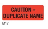 m17 - - Caution Duplicate Name