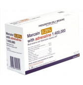 Marcain 0.25%  with Adren. 1:400000 Vials 5 x 20ml