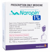 Naropin 1% amps 5 x10ML