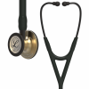 6164-01 3M Stethoscope Littmann Cardiology IV Black with Brass Finish