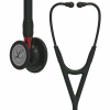 6200 3M Stethoscope Littmann Cardiology IV Black Edition with Red Stem